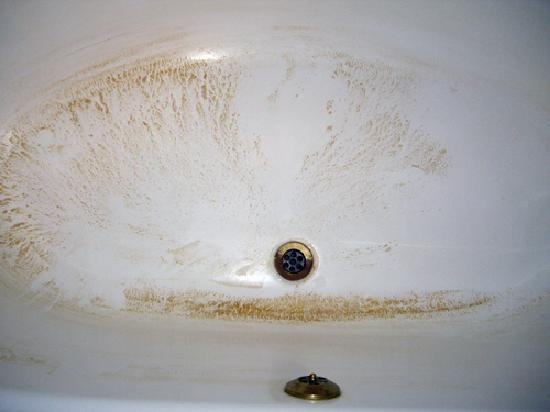 Portland Manor - Historical Country Estate: The muddy residue in the bath