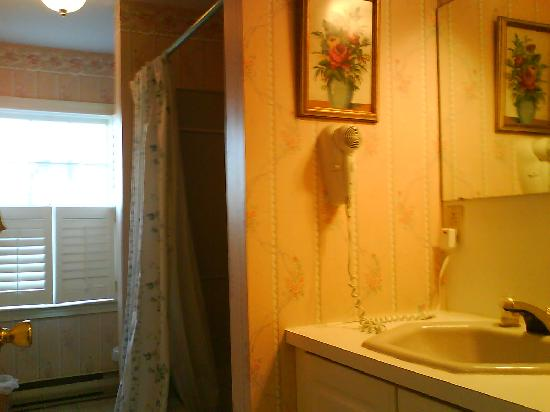 Bouchard Inn: Rose room bathroom