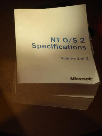 Microsoft Visitor Center: Old NT manuals