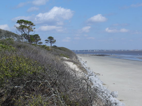 Νησί Τζέκιλ, Τζόρτζια: The Beach at Jekyll Island (St. Simmons is in the distance)