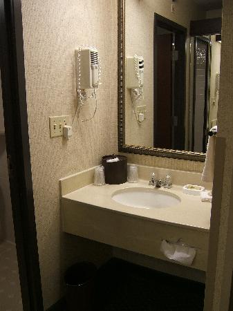 Drury Inn & Suites Houston West Energy Corridor : Sink area with hairdryer