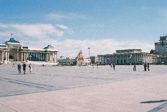 Ulaanbaatar, Mongolia: Sukhbataar Square, Ulaan Bataar