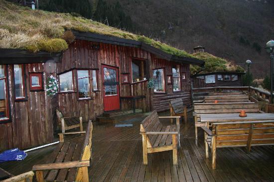 Brekkestranda Fjord Hotel: from the terrace facing the Sognefjord