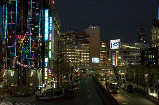 Hotel Sunroute Plaza Shinjuku: Karaoke club (foreground left) and train station (background)