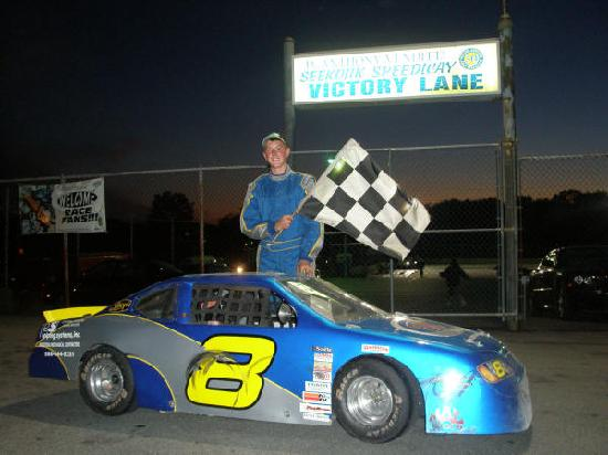 Chris igo's First feature win (minicup) Seekonk speedway june, 29