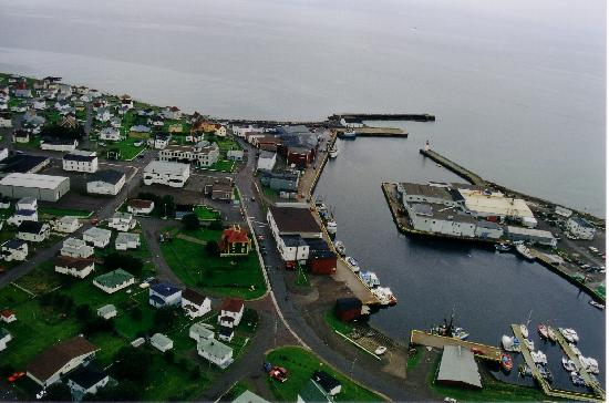 Overview of Grand Bank harbour