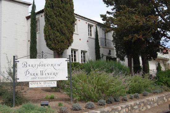 Bartholomew Park Winery: Exterior of the winery