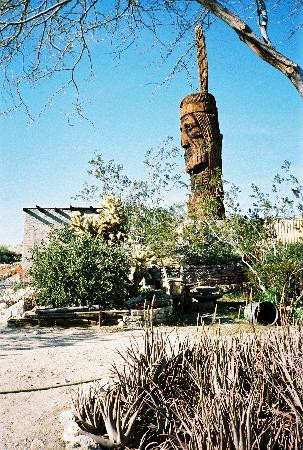Desert Hot Springs, CA: one of the folk statues on the property