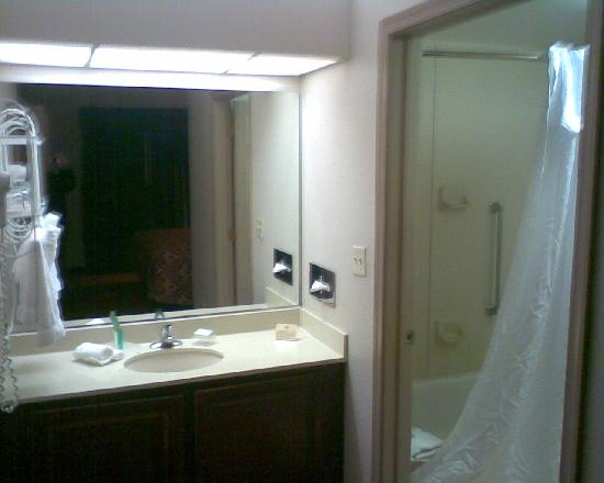Homewood Suites by Hilton Philadelphia Great Valley: Sink area of bathroom