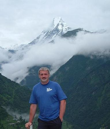 Me posing in front of Machapuchare