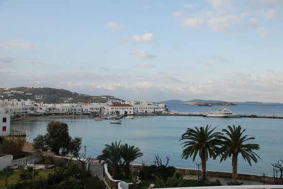 Mykonos Town, Yunani: View from Balcony...AMAZING