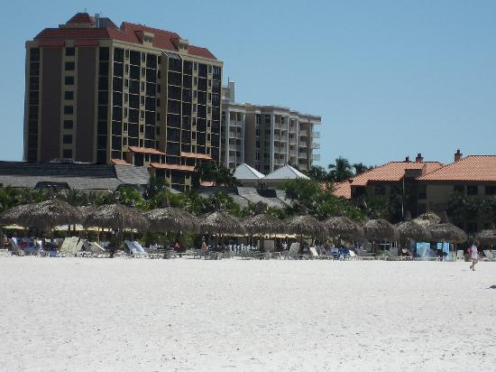 Eagle's Nest on Marco Beach: View from the beach