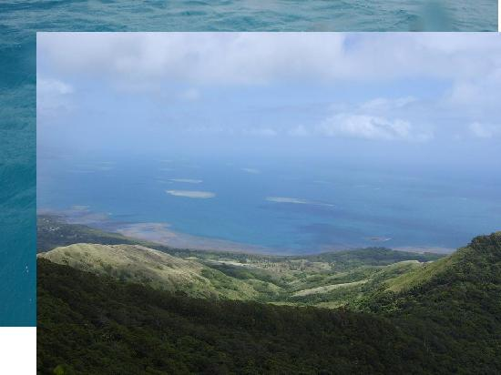 Viti Levu, Fiji: view from the hill above the retreat