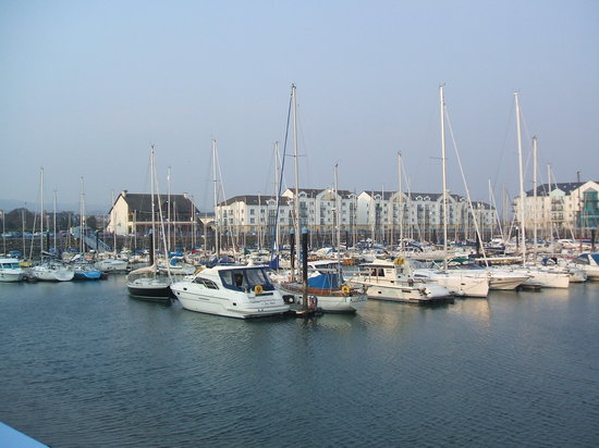 Carrickfergus Castle: The quayside marina near to the castle