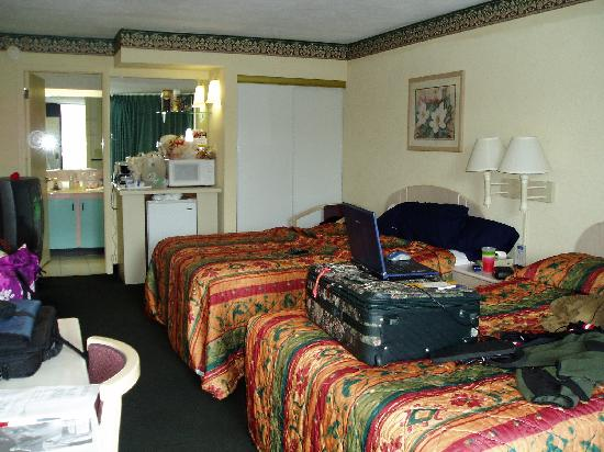 Howard Johnson Inn and Suites Clearwater FL: Room 243, Pet Friendly room w/ microwave, fridge & internet access