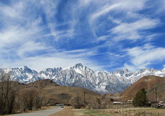 Lone Pine, CA: View of Mt.Whitney on road to Alhambra Hills.