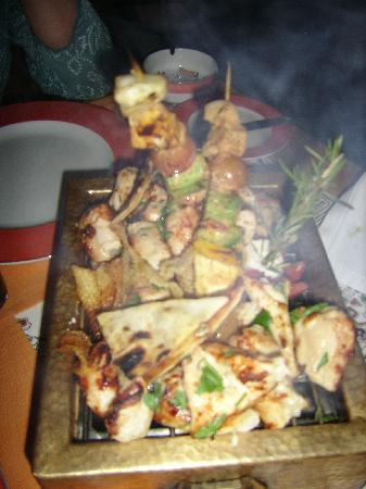 Steigenberger Nile Palace Luxor : The chicken kebabs