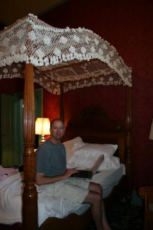 Dayton, WA: Large Bedroom with period furnishings