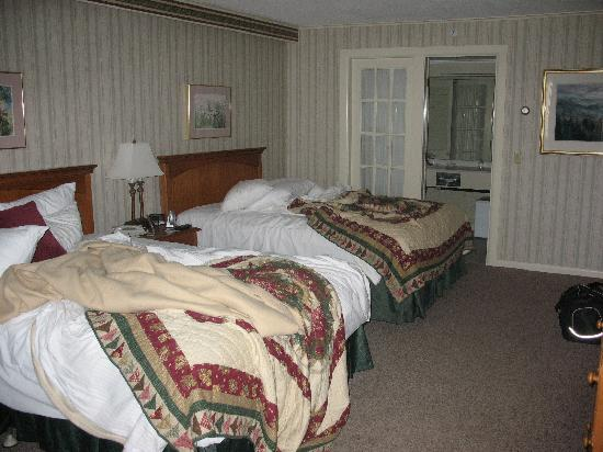 our room (note the messy beds) upon departure