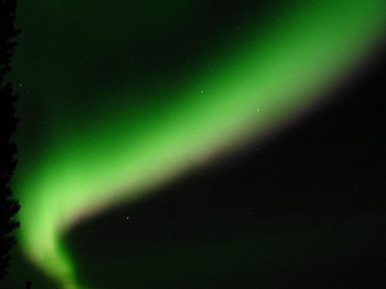 Northern Sky Lodge: Aurora borealis photo I took during our stay at the NSL