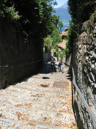 Pathway from Hotel Sonenga to downtown