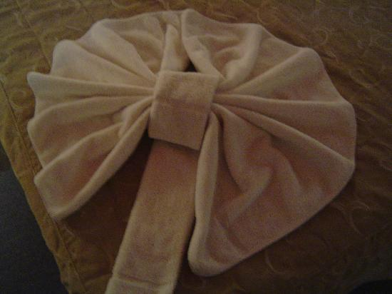 Samay Huasi Resort Spa: The whale tail towels!!