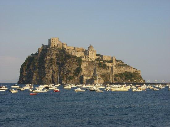 The island where the Albergo il Monastero sits