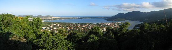 Florianopolis, SC: View overlooking the Lagoa da Conceicao