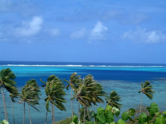 Tahiti, Polinesia Francesa: Vista panoramica en Riatea
