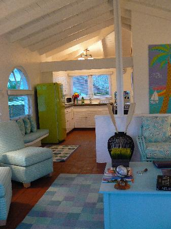 Mount Cinnamon Resort & Beach Club : The lounge of the 1 bed villa