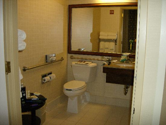the bathroom, shower is on the right, behind the door - Picture of ...