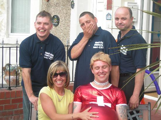 The Chedburgh Hotel: Me, My friends & Liz from the Chedburgh