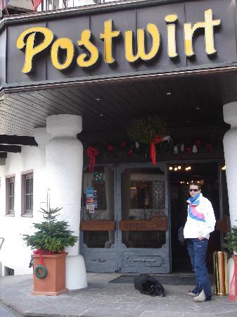 Postwirt: entrance