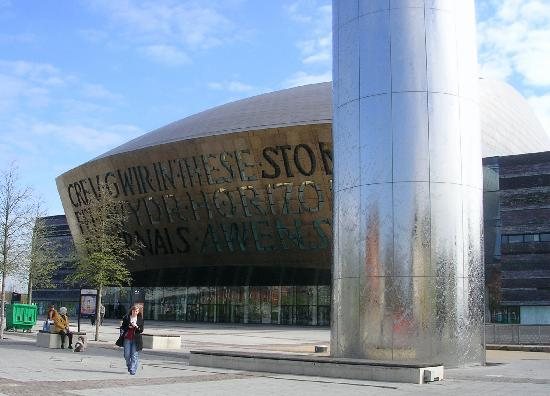 Wales Millennium Centre: Millenium Centre and entrance to the Torchwood Hub