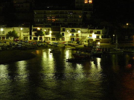 Nightime view from room picture of casamar hotel - Casa mar llafranc ...