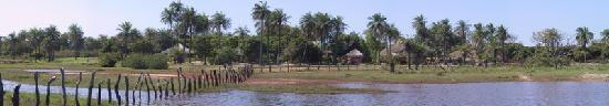 Kafountine, Senegal: Panoramic view of Esperanto Lodge