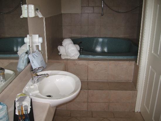 Silver Fern Rotorua - Accommodation and Spa: Deep spa/whirpool tub in large bathroom