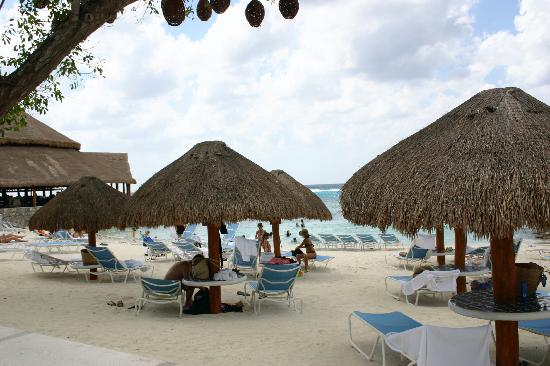 Presidente Inter-Continental Cozumel Resort & Spa : The beach palapas