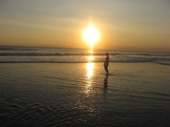 Bali, Indonesia: sunset at seminyak beach