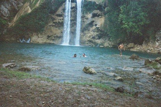 Camp Perrin, Haiti: Swimming by the waterfall