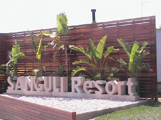 Camping & Resort Sanguli Salou : Entrance to Reception for Villa Paradise