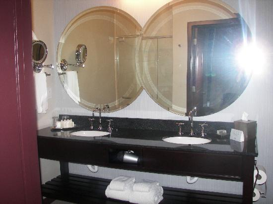 Twelve Centennial Park: Bathroom-beautiful mirrors and duel sinks