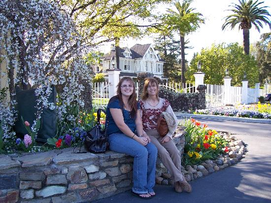 Stahlecker House: my mom and i at one of the vineyards