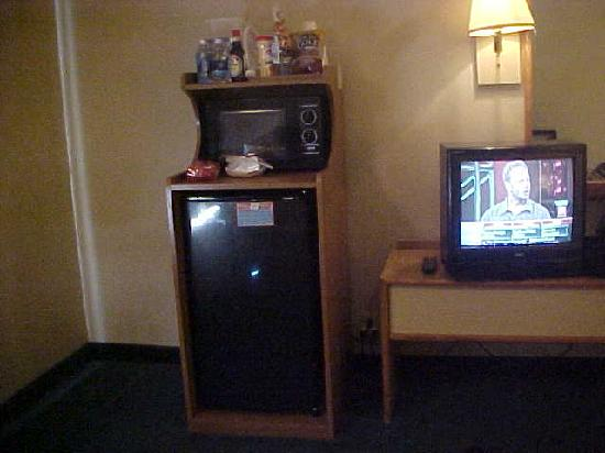 Homestyle Inn & Suites: microwave fridge tv