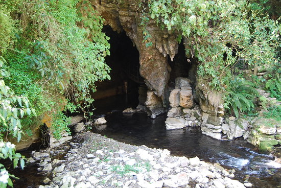 Waitomo Caves, New Zealand: cave entrance