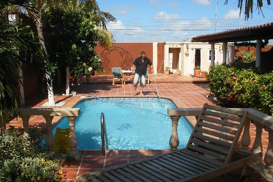 Laguna Beach Apartments: Edwin working on the pool