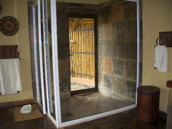 Royal Legend Safari Lodge & Spa: Huge inside shower and door to outside shower
