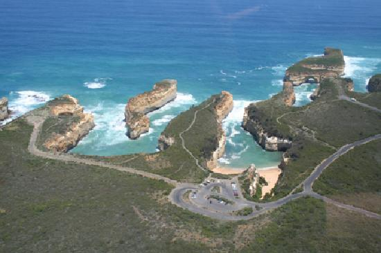Port Campbell Coastline From Helicopter  Picture Of Port Campbell Victoria