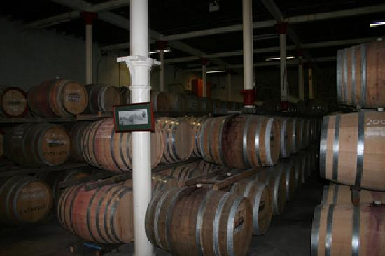 Wine barrels at Chateau Tanunda, Barossa Valley