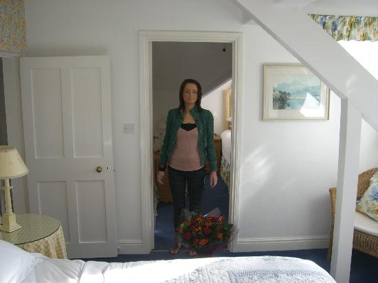 Low Fell: My fiancee and her flowers in the room